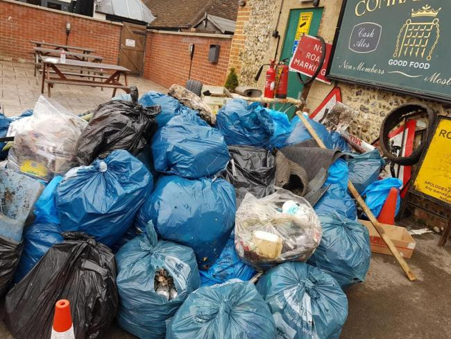 Wallingford litter pick in 2018