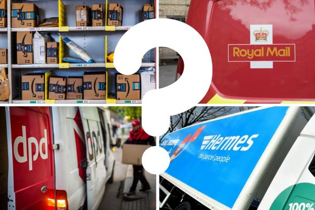 Parcel delivery firms in the UK have been ranked in a new poll