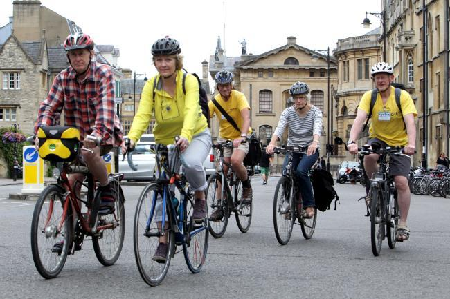 Cyclists in the city centre