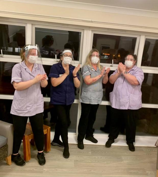 Oxford Mail: Rachel Louise Scurr shared a photograph of care home staff paying tribute