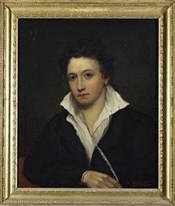 A portrait of Shelley at the Bodleian Library