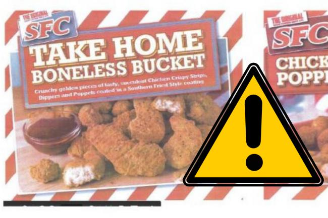 Chicken food products recalled after salmonella risk