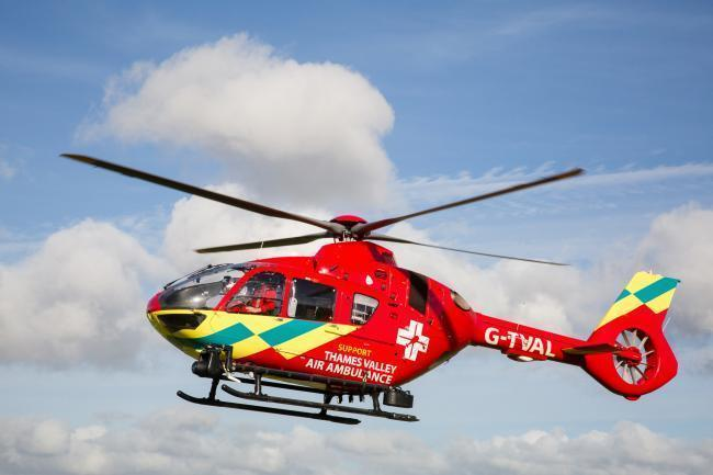 File image of the Thames Valley Air Ambulance. Picture: Mark Lord
