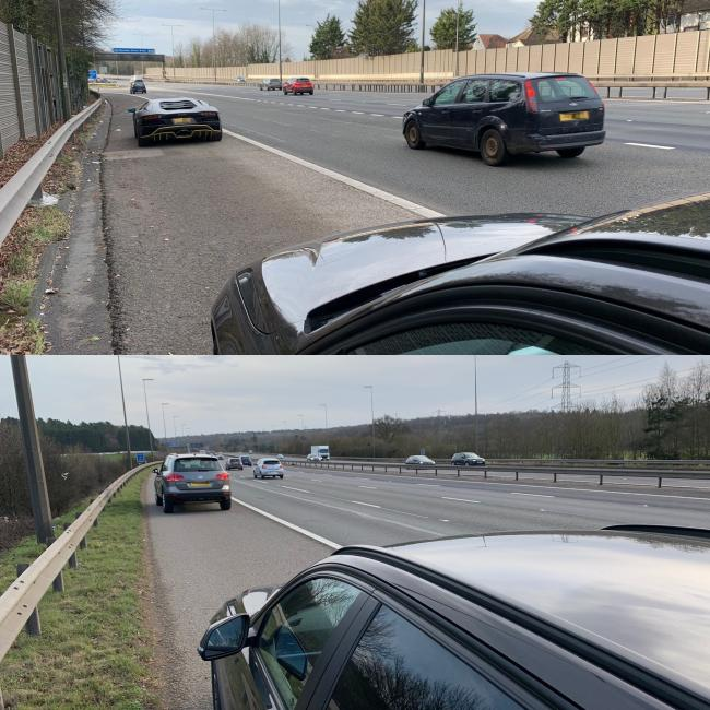 Drivers caught by Thames Valley Police roads policing officers. Picture: TVP Roads Policing