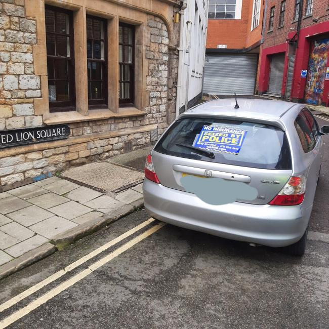 Police seized this Honda in Oxford city centre. Picture: Thames Valley Police