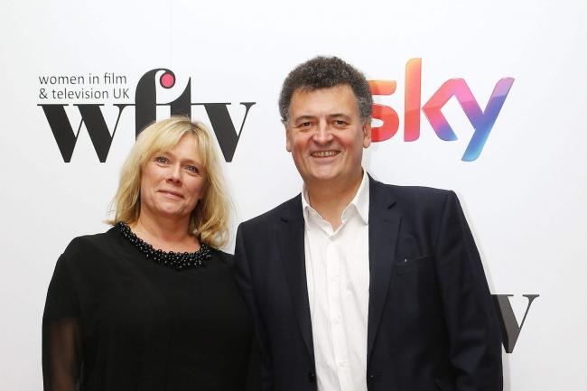 Steven Moffat and Sue Vertue