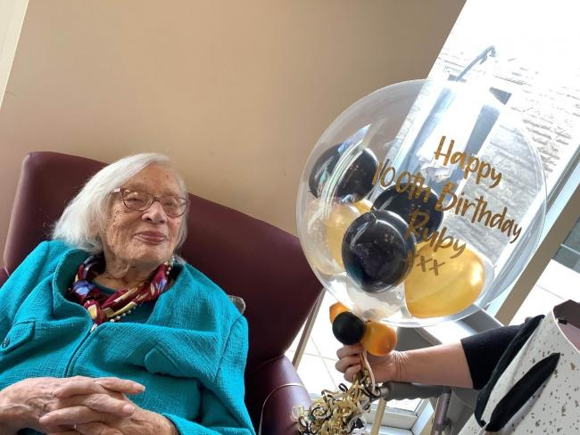 Ruby Riches celebrates her 100th birthday