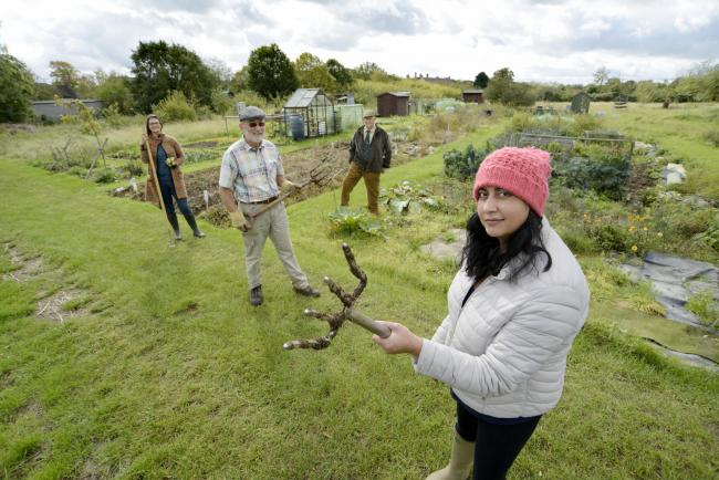 Cassington residents are angry over plans by Blenheim Estate to build on the village allotments. Picture: David Fleming