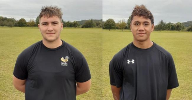 Archie McArthur and Greg Fisilau have signed contracts with Wasps. Pictures provided by Activate Learning