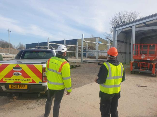 Work is progressing at Stanton Harcourt industrial estate in preparation for the opening of a new traffic management depot