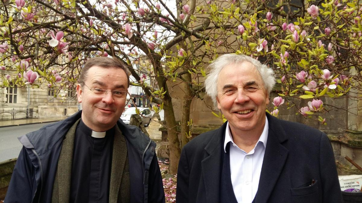Rev Dr William Lamb with hotelier Jeremy Mogford