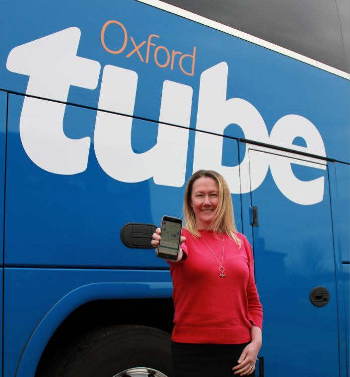Karen Coventry with the new Oxford Tube app