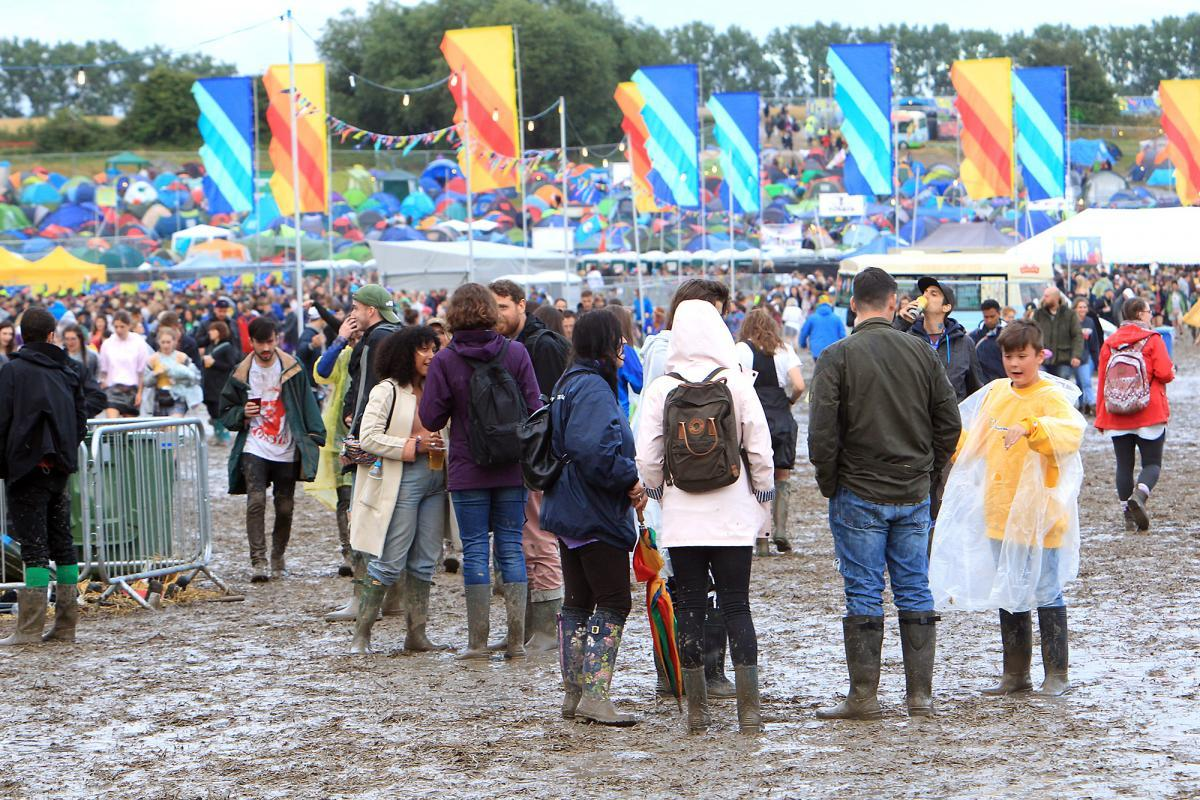 Festival goers brave the mud at Truck in 2017