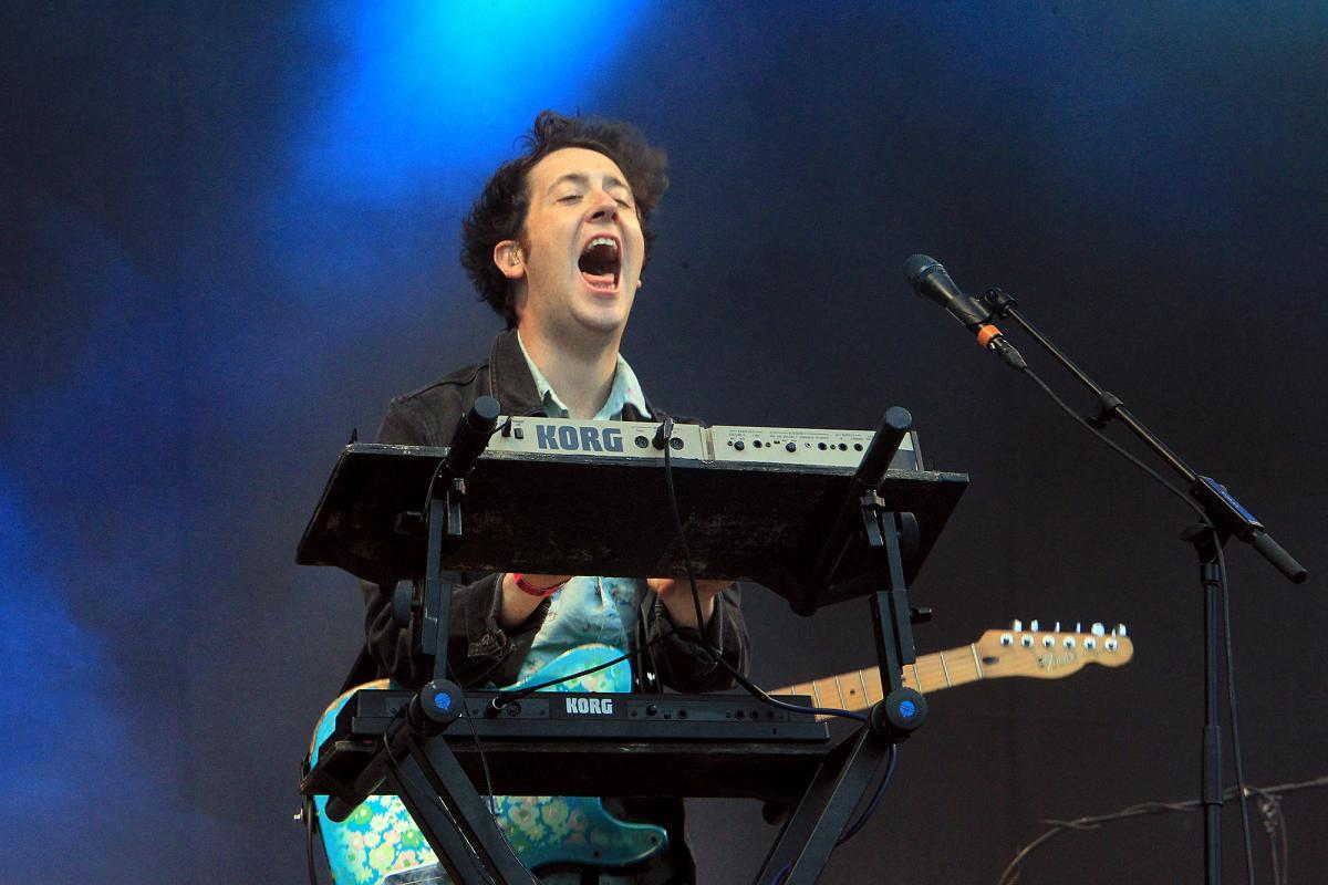 Matthew Murphy from The Wombats in 2017