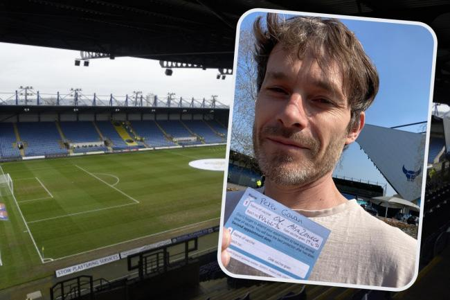 Oxford Mail editor Pete Gavan had his Covid jab at the Kassam Stadium