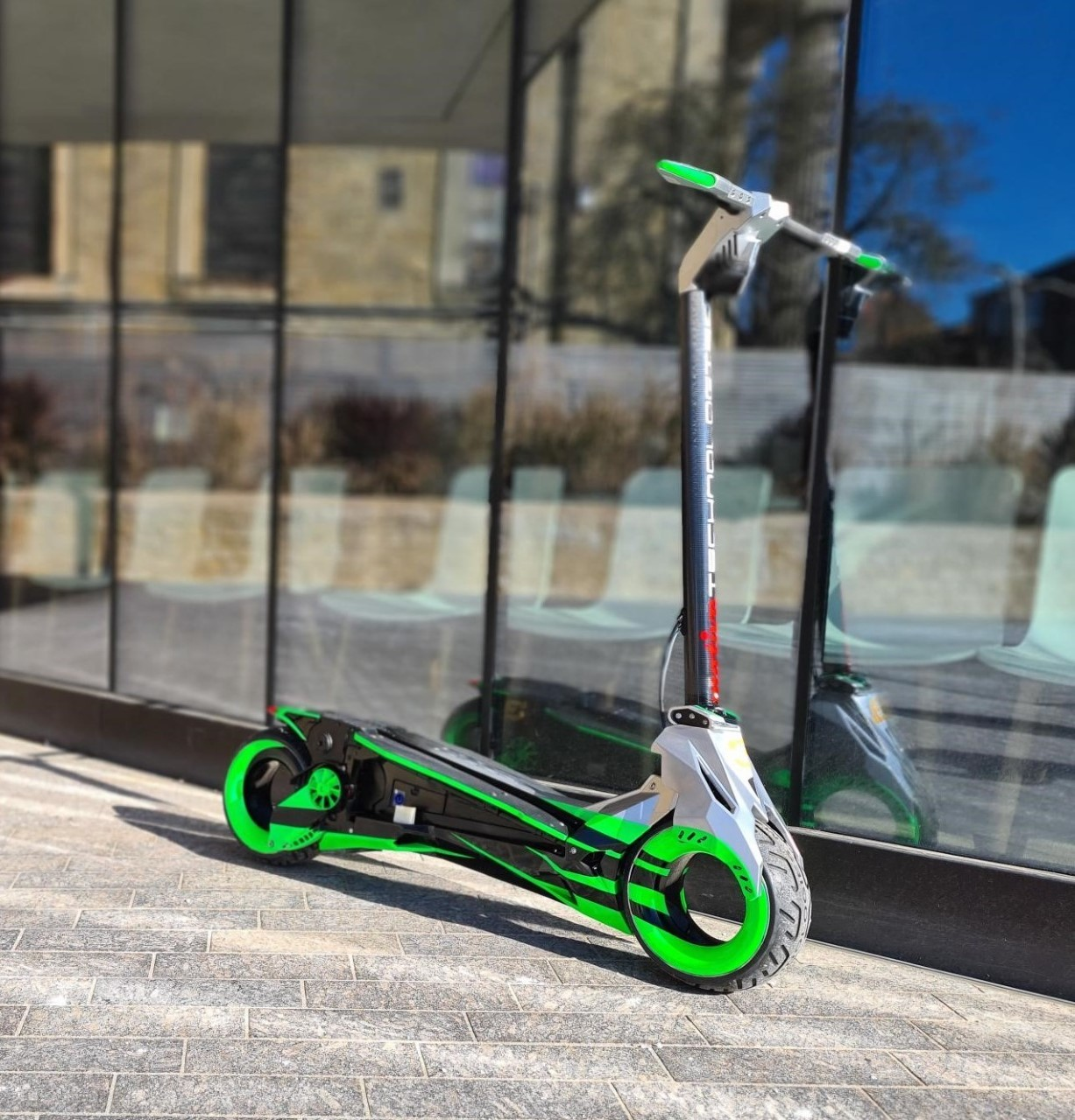 The stolen electric scooter