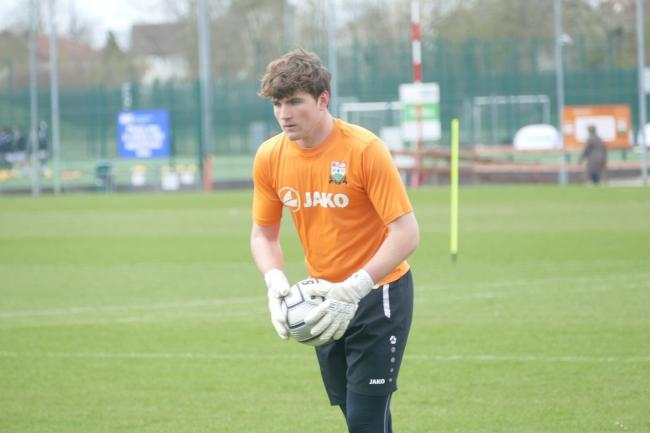 James Callan became the youngest goalkeeper in the Vanarama National League Picture: Des Williams