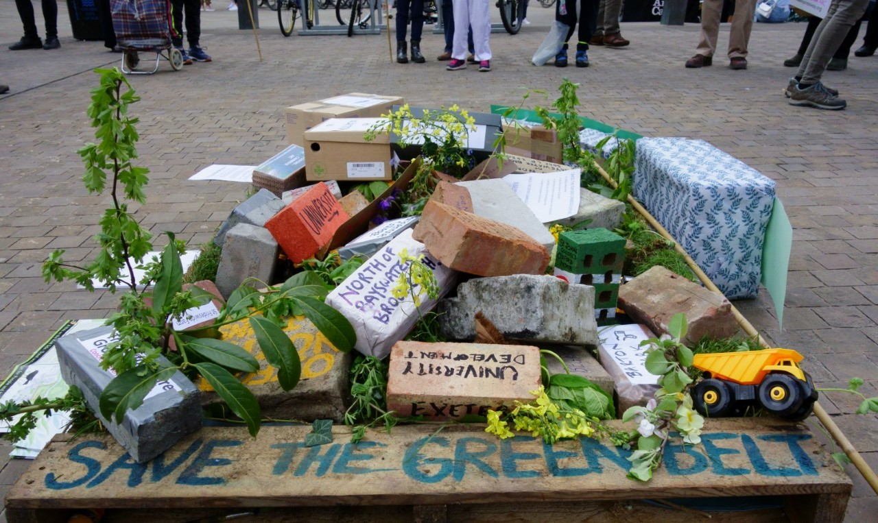 Demonstrators protested against building on the green belt in Oxfordshire. Picture: Oren Yudkin