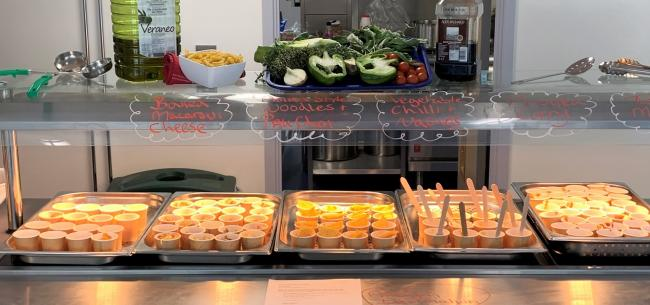 Food on offer at The Swan School. Picture: Oxfordshire County Council
