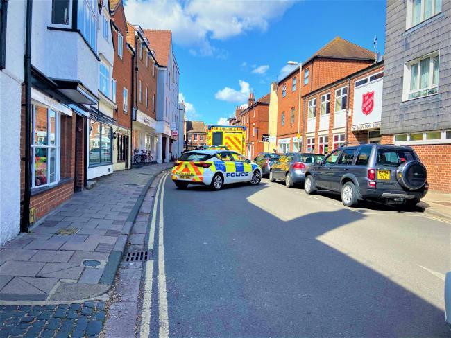 Why were there so many police in Abingdon today?