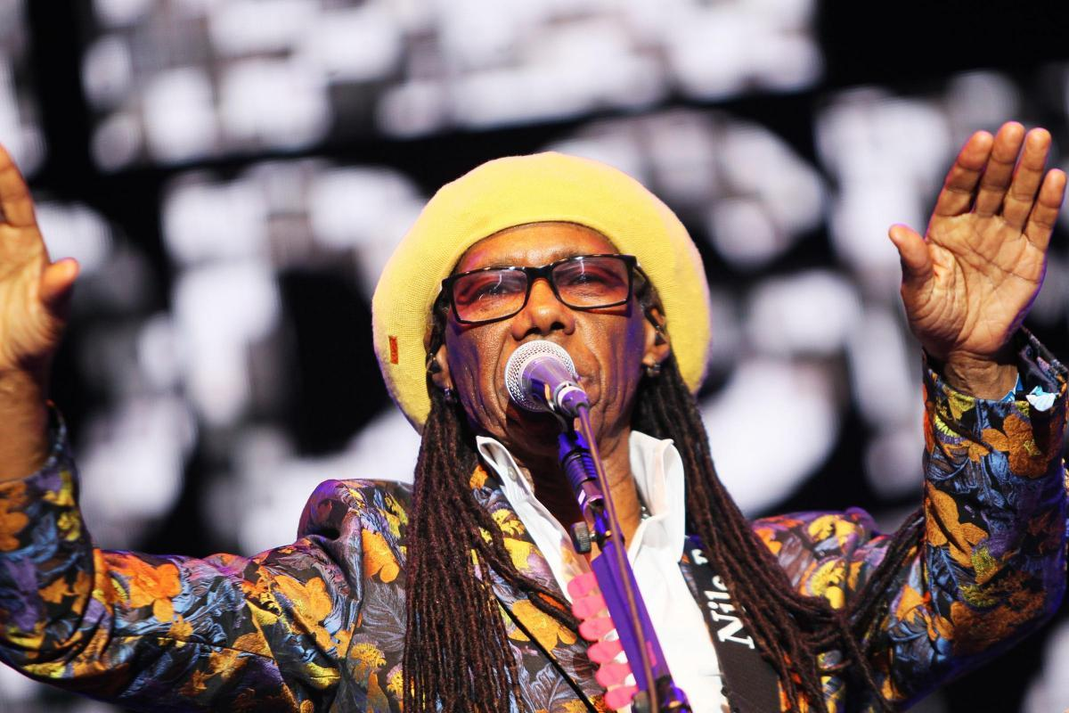 Nile Rodgers sings at Wilderness in 2018