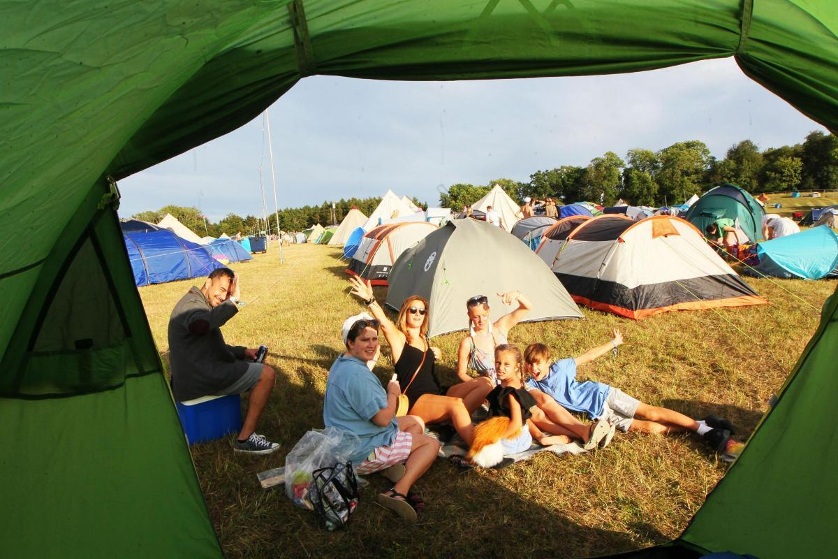 The view from under canvas at Wilderness