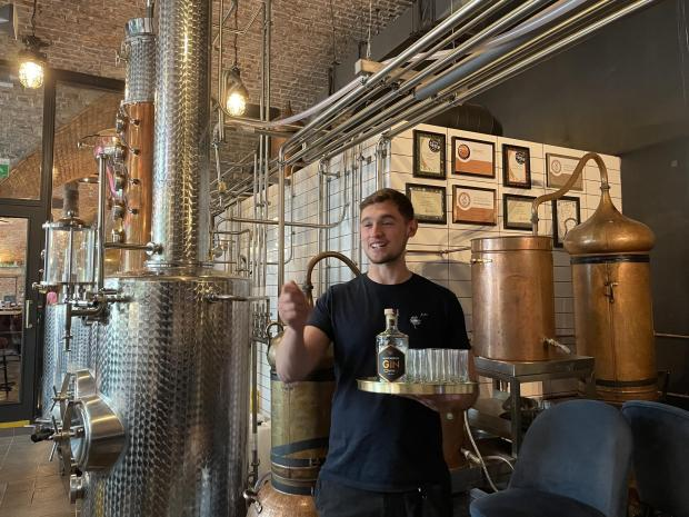 Oxford Mail: Our host Seb at the Manchester Gin Bar