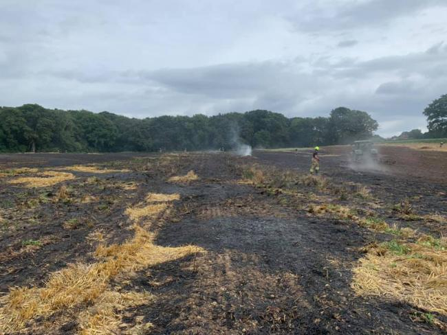 Firefighters attend farm fire this afternoon