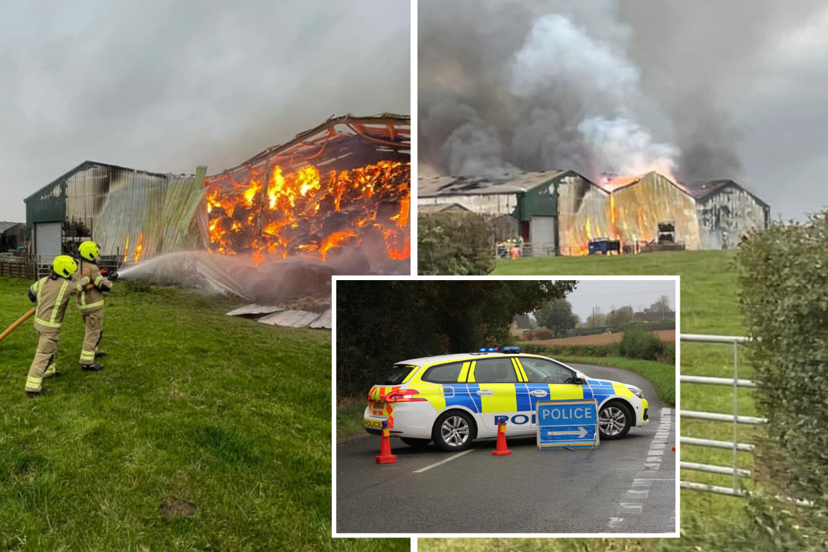 40 firefighters were tackling Eynsham barn fire at height of emergency