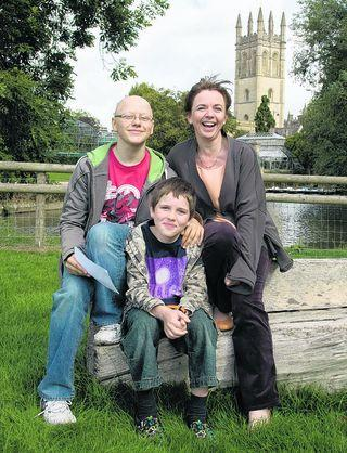 Alex Polywka with his 12-year-old brother Stephen and their mother Susan