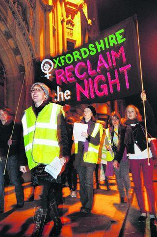Reclaim the Night women march through the city