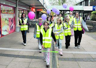 Gulshat's pals join her on a funraising walk for her next op