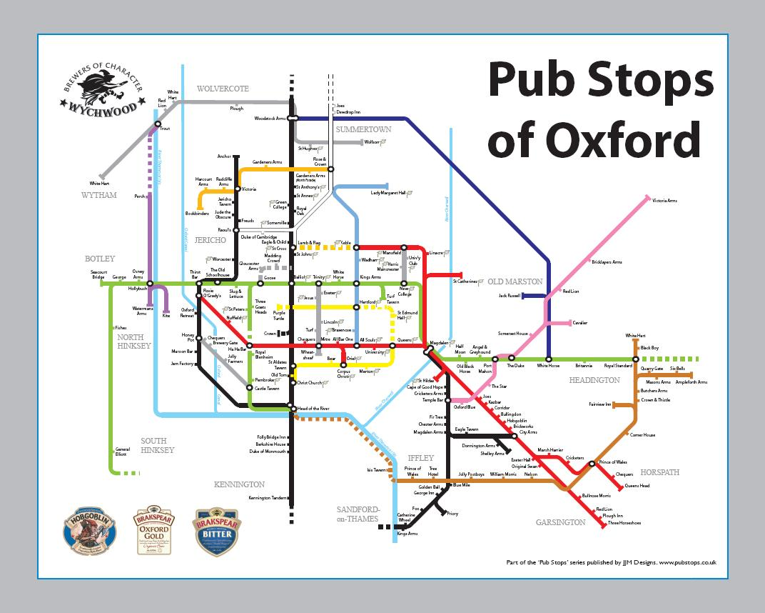 Underground map to Oxfords pubs Oxford Mail