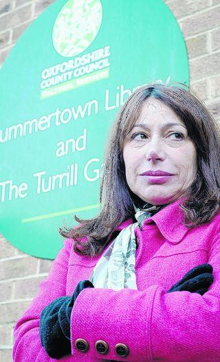Gina Cuciniello outside Summertown Library, which she fears will close down