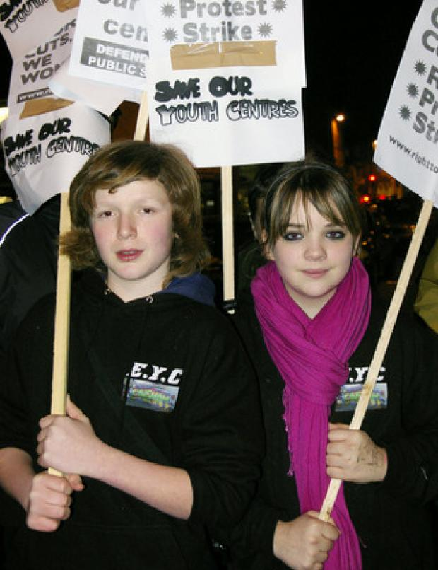 Nicky Wishart on the protest with India Atwell, 13, from Eynsham