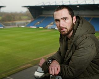 Mitchell Cole at the Kassam Stadium yesterday, admitting he has no idea what the future holds after being forced to retire from football at 25