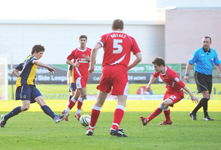 Ryan burge sets up james Constable's second goal against Crewe