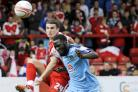 Jimmy Sangare goes in  where it hurts at Accrington