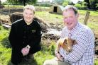 Paul Bellchambers, who runs The Late Chef, with Mark Cooper, of Coopers Oxford Pork