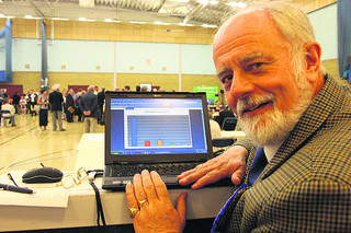 Keith Mitchell, pictured at the 2009 county council election count