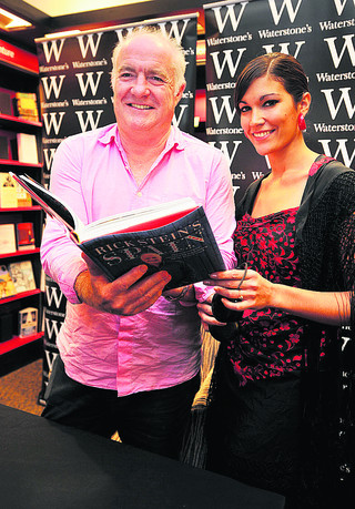 Rick Stein with Spanish flamenco dancer Zaida Dondin, at the celebrity chef's book signing in Waterstones