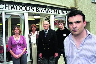 Trevor Craig with other members of the Friends of Wychwood Library
