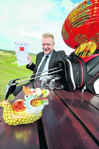 he Oxfordshire Golf Club's general manager Tim Pettifer where staff are learning Chinese
