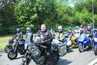 Nick Brown, on his Yamaha 660 Tenere, with fellow bikers
