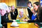 Magdalen College School pupils join in for scrabble and tea