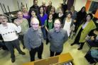 Blackbird Leys Choir director of music, Trevor Davies, front left, with new chairman Graham Russell and choir members