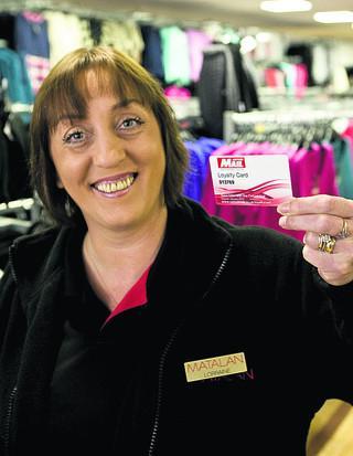 abb3b0ec5cb0 Matalan staff member Lorraine Horwood shows off the Oxford Mail loyalty card