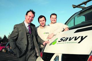 Stephen, James and David Dunne of Savvy Maintenance and Renovations