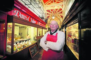 Colin Dawson of David John Butchers in Oxford's Covered Market. Picture: OX50261 Damian Halliwell