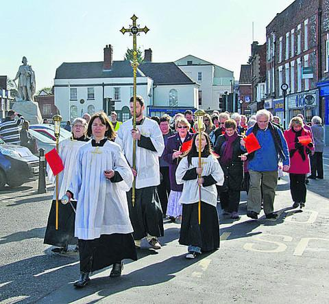 The Palm Sunday procession